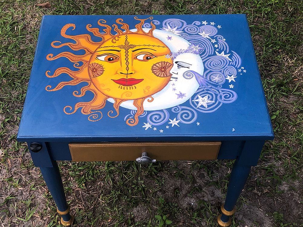 Sun and Moon End Table