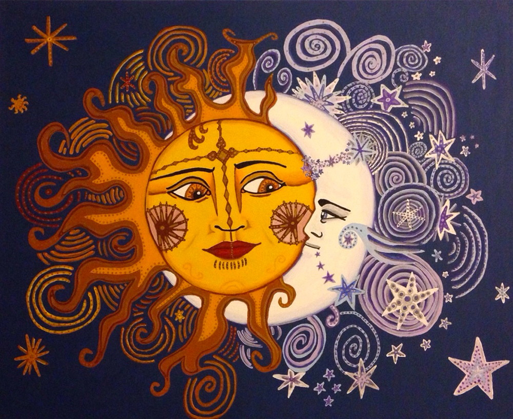 Sun and Moon Embrace